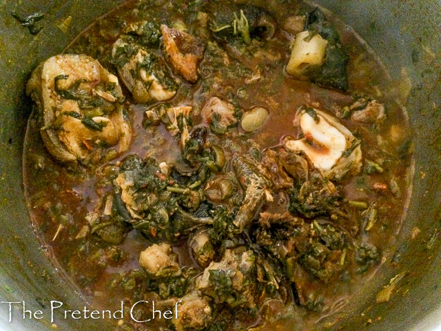 Afang Soup Deluxe cooking in a pot