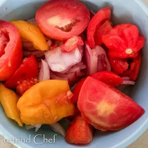tomato, onions, pepper for gizdodo, gizzard and plantain