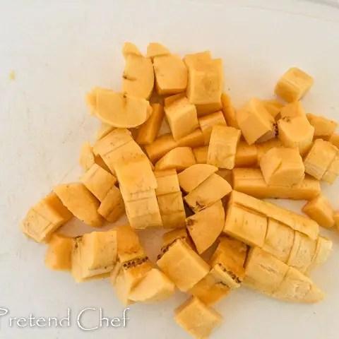 cubed plantain for gizdodo, gizzard and plantain