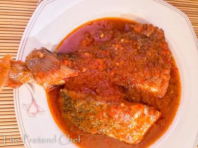Rich and spicy Nigerian fish stew (Imoyo), Obe eja tutu