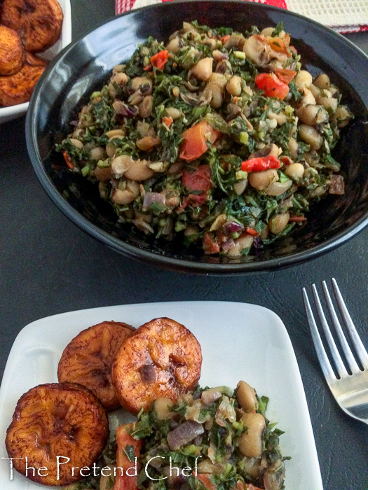 Nigerian greens and beans (green amaranth)