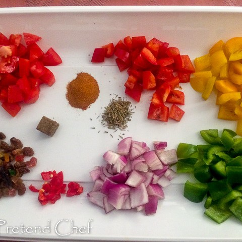 ingredients for Couscous with bell peppers