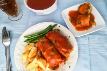 Soft and tender cabbage roll