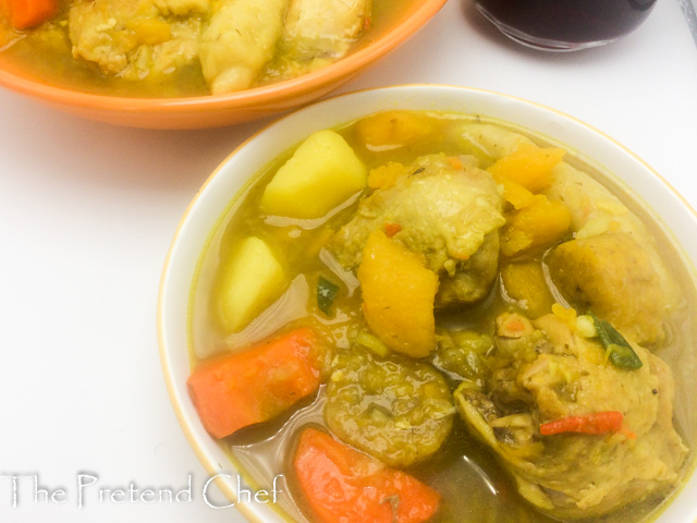 jamaican chicken soup with dumplings  the pretend chef