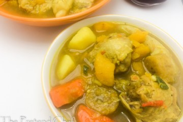 Hearty Jamaican chicken soup