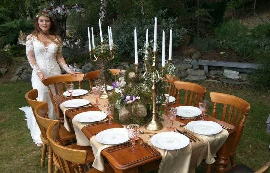 gold candleabra hire nz