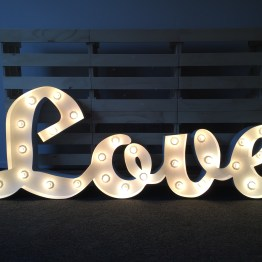 Love white letter light hire nz