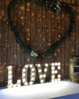 LOVE letter light hire
