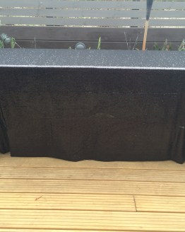 black sequin tablecloth hire nz