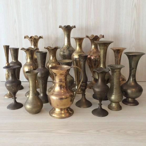 brass vintage vase hire auckland new zealand