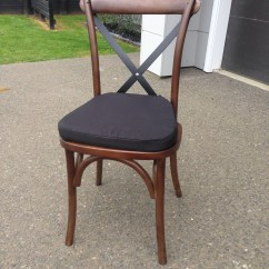Black Cross Back Chairs Nz Foldable Ergonomic Wooden Chair Natural Brown The Pretty Prop Shop Bentwood Hire