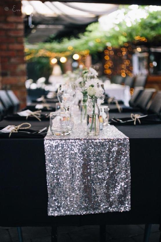 sequin table runner hire auckland new zealand