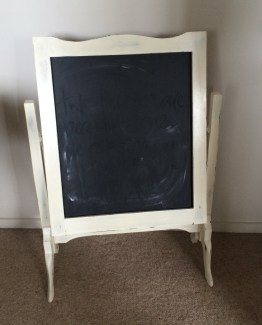 CHEVAL CHALKBOARD ON STAND - OFF WHITE