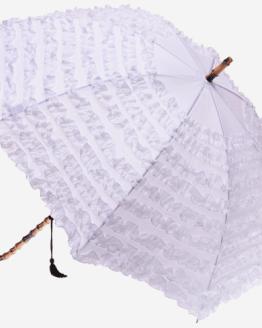 white umbrella hire