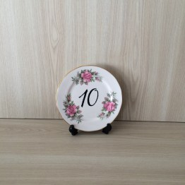 floral plate table number hire auckland new zealand
