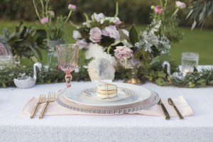 beaded charger plate rentals