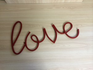 love metal sign hire nz