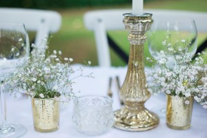 gold candlestick hire