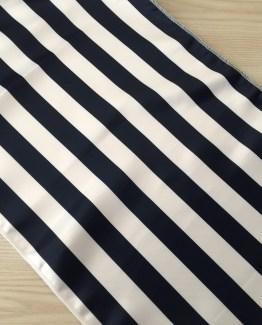 navy and white stripe runner hire