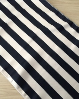 navy and white stripe runner hire