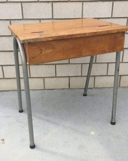 wooden school desk hire