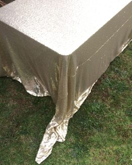 gold sequin tablecloth rental