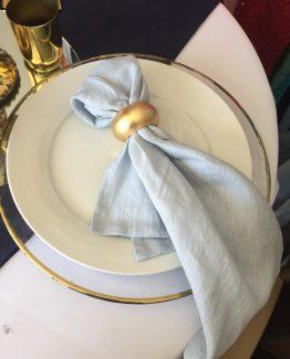 stonewash linen napkin pale blue