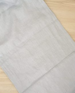 stonewash linen table runner pale blue