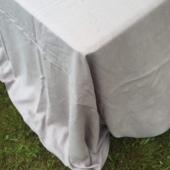 stonewash linen tablecloths grey