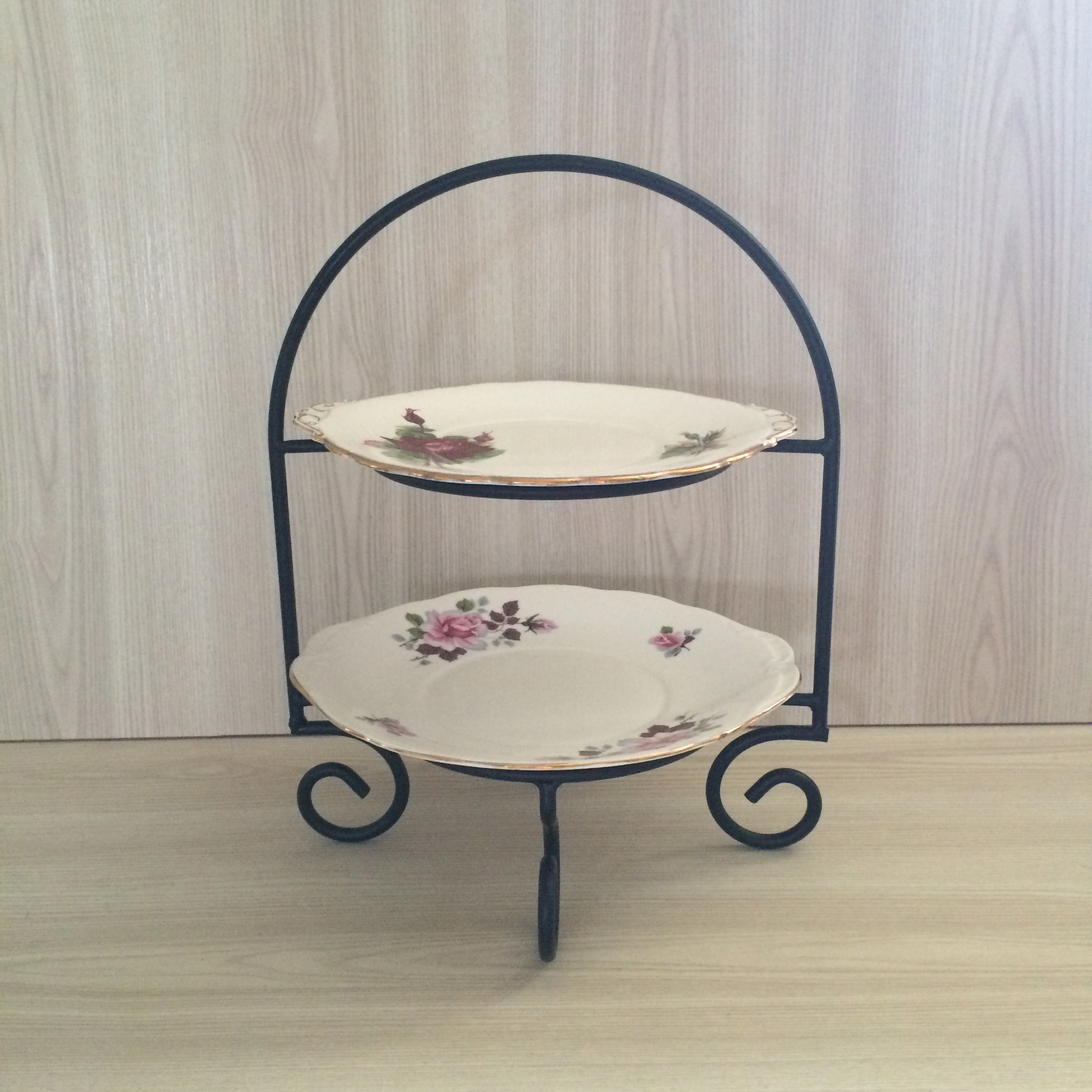 cake stand hire auckland new zealand & Two Tier Cake Plate Stand | The Pretty Prop Shop Wedding and Event Hire