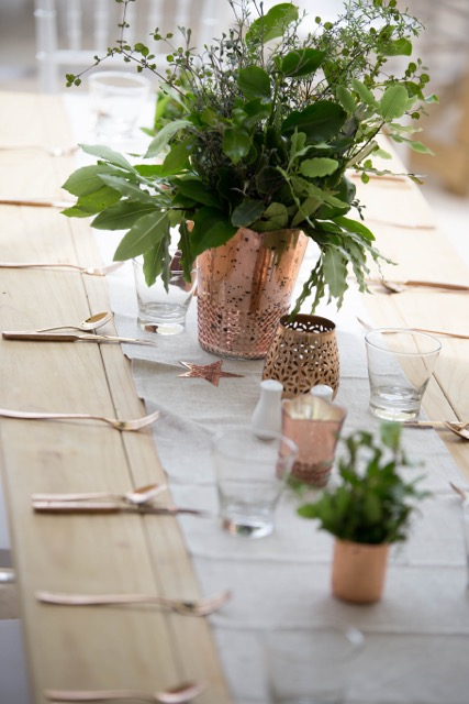 natural table runner hire auckland new zealand