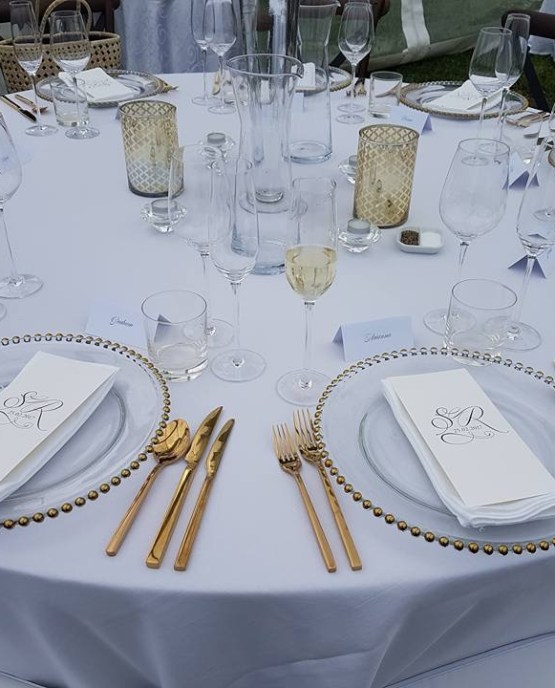 GOLD BEADED CHARGER PLATE HIRE AUCKLAND NEW ZEALAND