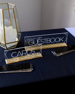 cards and guestbook sign hire