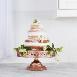 rose gold copper cake stand