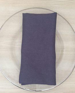 grey linen napkin hire