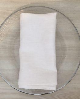white linen napkin hire