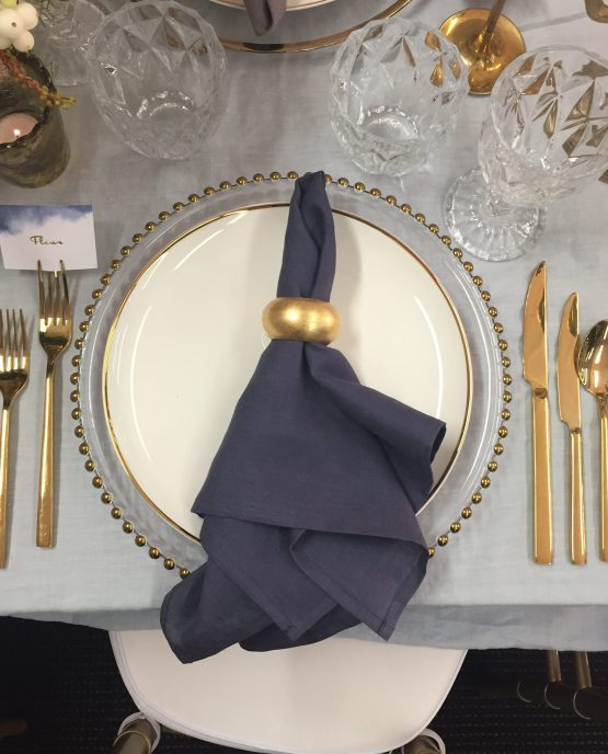 dark grey linen napkin hire nz