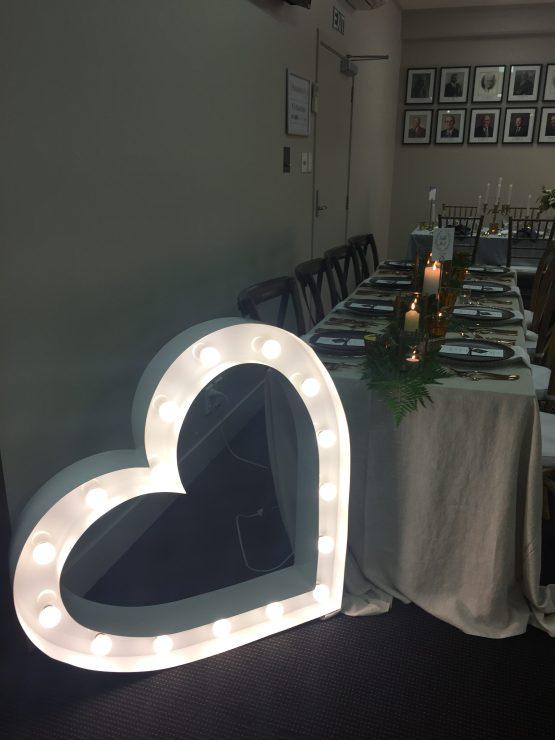 heart letter light hire nz