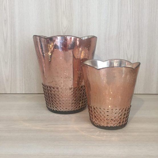 rose gold vase hire