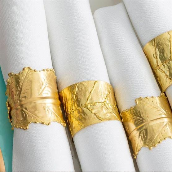 gold napkin ring hire nz