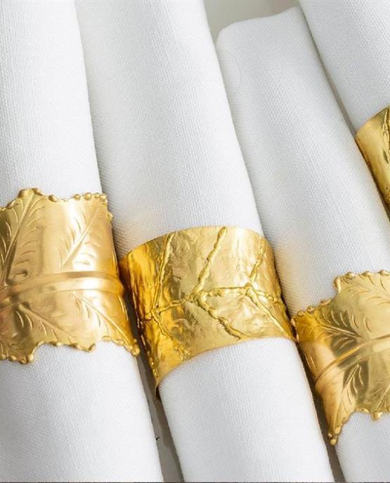 gold napkin ring hire nz