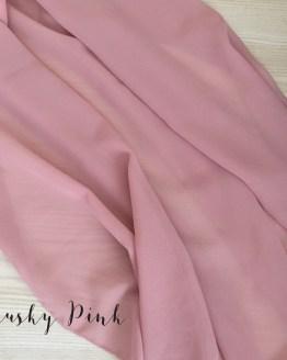 dusky pink chiffon table runner