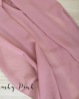 dusky pink chiffon table runner