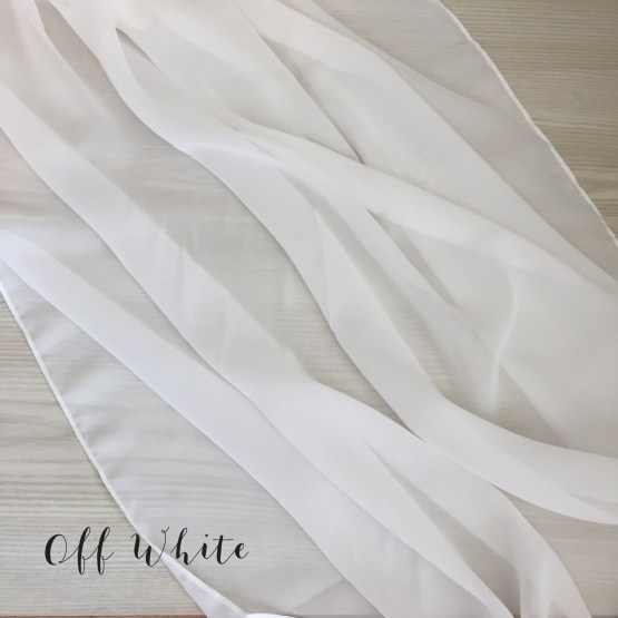 off white chiffon table runner
