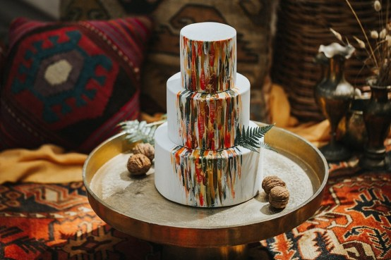 gold metal cake stand hire nz