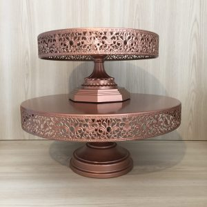 rose gold cake stand hire auckland