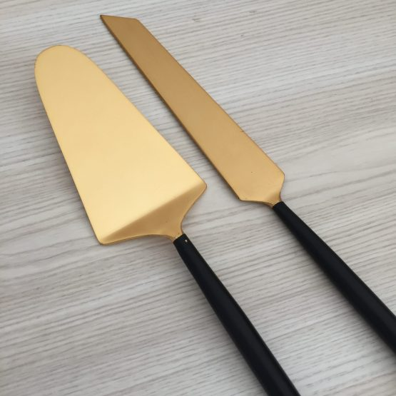 gold cake knife set hire nz