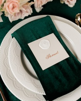 copper and emerald wedding