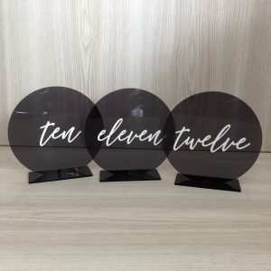 wedding table number hire nz