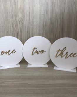 acrylic table number hire nz